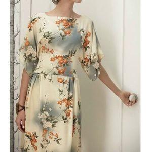 Anthropologie Anna Sui Jonquil Sky Silk Dress